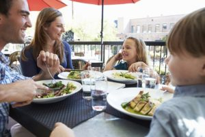a family meal at state fare